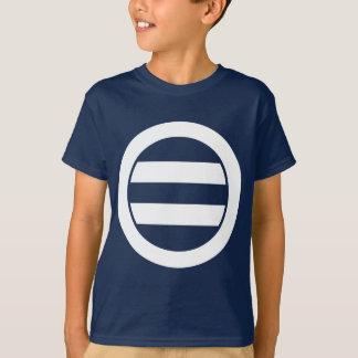 Zwei Linien im Kreis T-Shirt