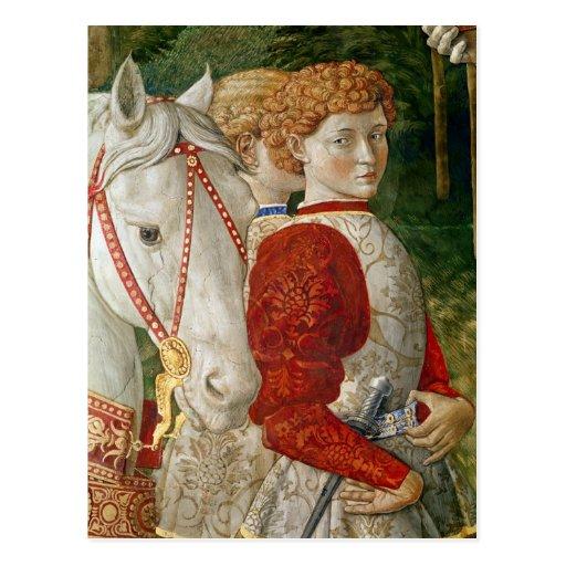 Zwei Liveried Begleiter und der Kopf von Lorenzo Postkarten