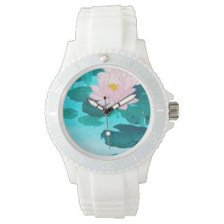Zwei Lotos-Blumen Armbanduhr