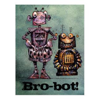 Zwei lustige Roboter - Bro-Bot! Postkarte