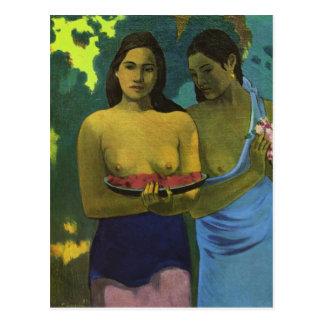 Zwei Mädchen, Paul Gauguin Postkarte