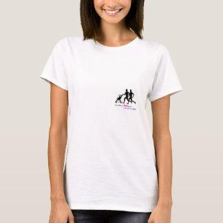 Zwei Männer, ein Baby und Lorcans Damen T-Shirt