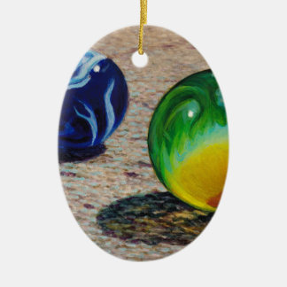 Zwei Marmore Keramik Ornament