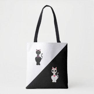 Zwei Mode-niedliche Katzen Tasche