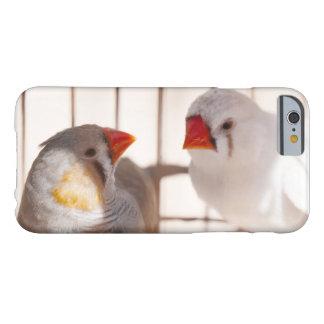 Zwei niedliche Fink-Vögel im Käfig Barely There iPhone 6 Hülle