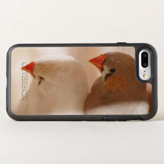 Zwei niedliche Fink-Vögel im Käfig OtterBox Symmetry iPhone 8 Plus/7 Plus Hülle