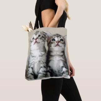 Zwei niedliche Kätzchen Tasche