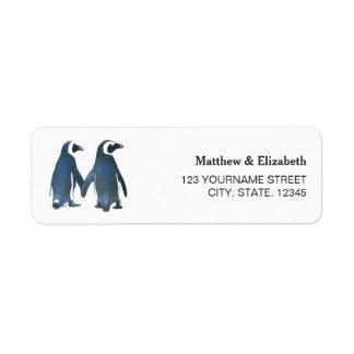 Zwei niedliche romantische Hochzeit der Penguins-|