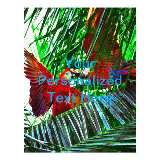 Zwei Papageien-Vögel, die in den Tropen spielen Flyer