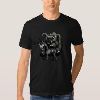 Zwei Parteien zugehörige Maskottchen T Shirts