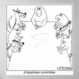 Zwei Parteien zugehöriger Ausschuss Posterdrucke