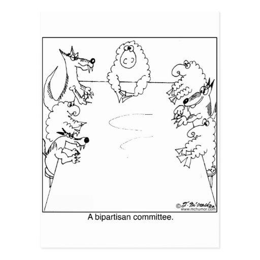 Zwei Parteien zugehöriger Ausschuss Postkarten