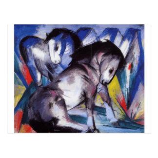 Zwei Pferde durch Franz Marc Postkarte
