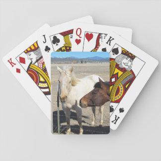 Zwei Pferdespielkarten Spielkarten