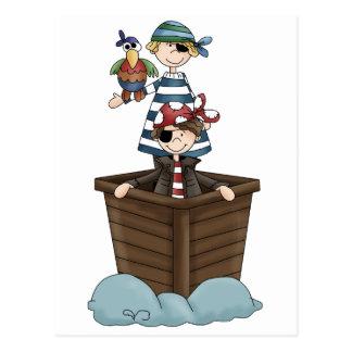 Zwei Piraten Postkarte