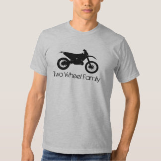 Zwei Rad-Familie - Schmutz-Fahrrad Shirts