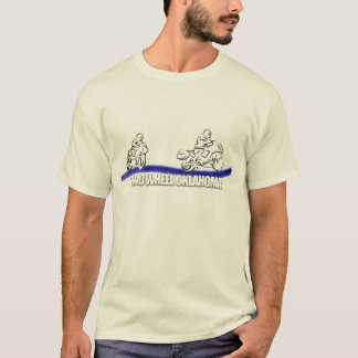 Zwei Rad-Oklahoma-Skizze-T-Stück T-Shirt