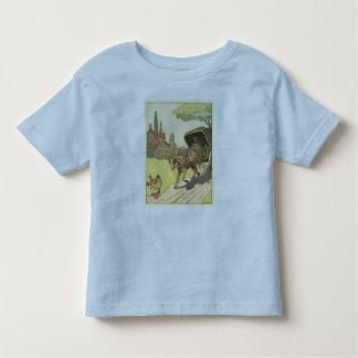 Zwei-Rad Pferdewagen in der französischen Tshirt