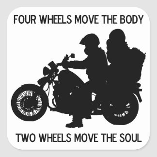Zwei Räder bewegen das Soul Quadratischer Aufkleber