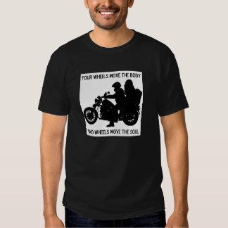 Zwei Räder bewegen das Soul Shirts