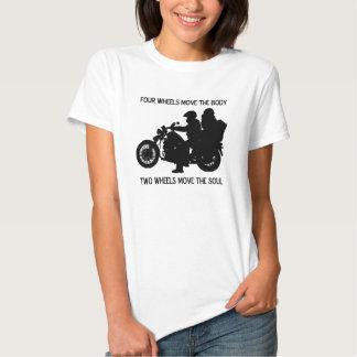 Zwei Räder bewegen das Soul Tshirts