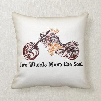 Zwei Räder bewegen die Soul-Motorradthrow-Kissen