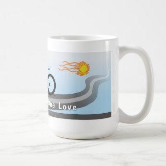 Zwei Räder eine Liebe Kaffeetasse