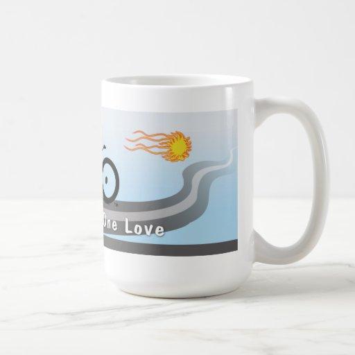 Zwei Räder eine Liebe Teetasse
