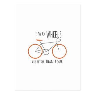 Zwei Räder Postkarte