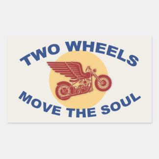 Zwei Räder Rechteckiger Aufkleber