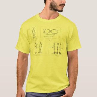 zwei Radselbstbalancierende Roller t T-Shirt