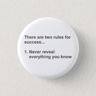 Zwei Regeln für den Erfolg aufgedeckt Runder Button 2,5 Cm