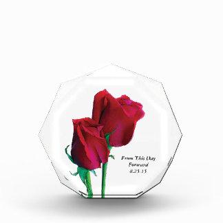 Zwei Rosen-Andenken-Acryl Auszeichnung