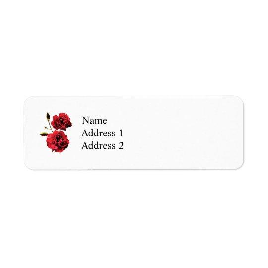 Zwei rote Gartennelken mit den Knospen Rücksende Aufkleber