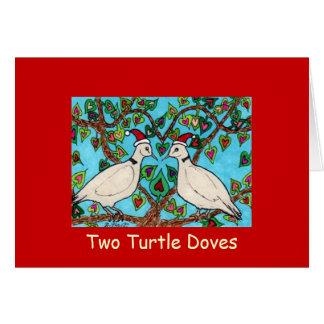 Zwei Schildkröte-Tauben Karte