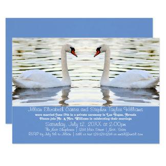 Zwei Schwan-Foto - Mitteilung der Hochzeits-3x5 8,9 X 12,7 Cm Einladungskarte