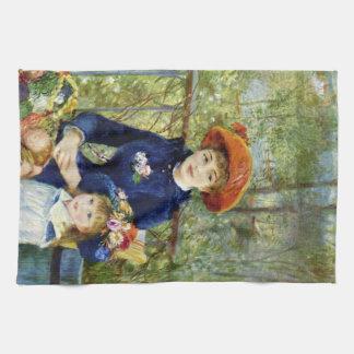 Zwei Schwestern (auf der Terrasse) durch Pierre Handtuch