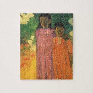 Zwei Schwestern durch Paul Gauguin, Vintager Puzzle