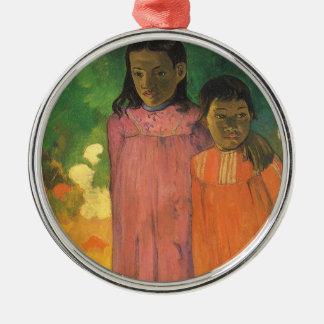 Zwei Schwestern durch Paul Gauguin, Vintager Silbernes Ornament