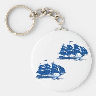 Zwei Segelschiffe Keychain Schlüsselanhänger