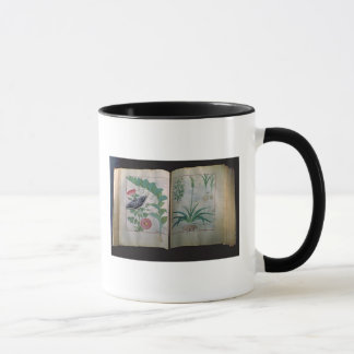 Zwei Seiten, die Rose und Knoblauch darstellen Tasse