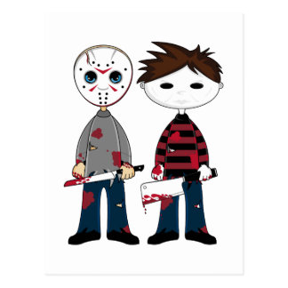 Zwei Serienmörder-Postkarte Postkarte