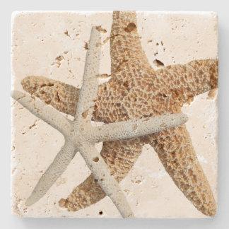 Zwei Starfish-tropischer Entwurf Steinuntersetzer
