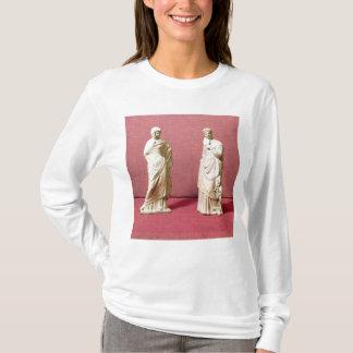 Zwei Statuen der stehenden Frauen von Tanagra T-Shirt