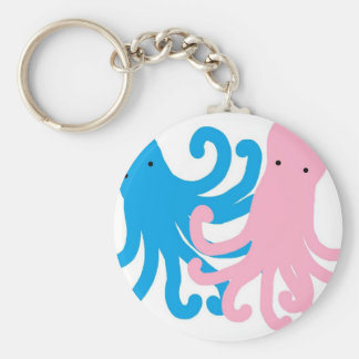 Zwei süße Kraken Schlüsselanhänger
