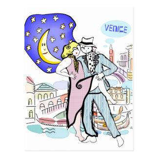 Zwei Tangueros in Venedig Postkarte