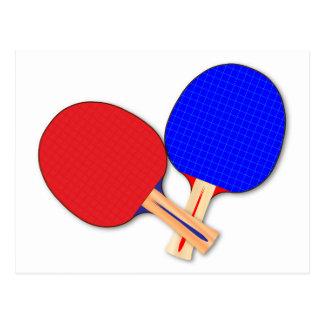 Zwei Tischtennis-Schläger Postkarte