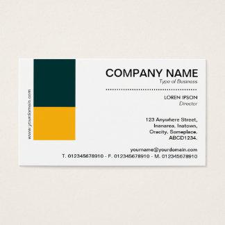 Zwei Ton-Dekor - dunkelgrün und bernsteinfarbig Visitenkarte