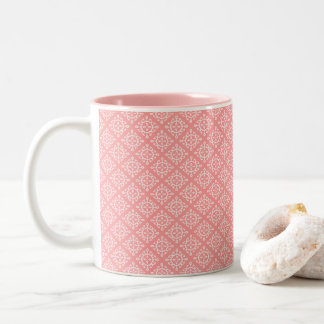 Zwei Ton-Kaffee-Tassen-Koralle/weißer Entwurf Zweifarbige Tasse