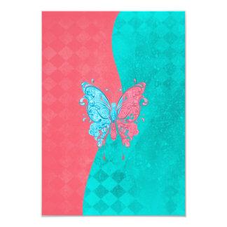 Zwei Ton-Schmetterlings-Rosa und aquamarines Ankündigung